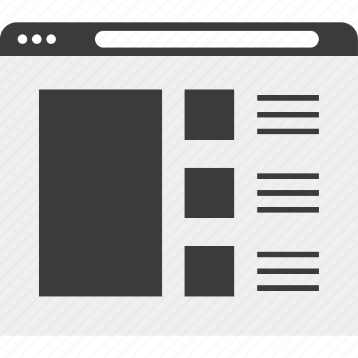 blog, gallery, web, wireframe icon