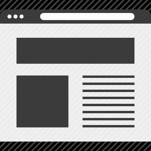 blog, layout, web, wireframe icon