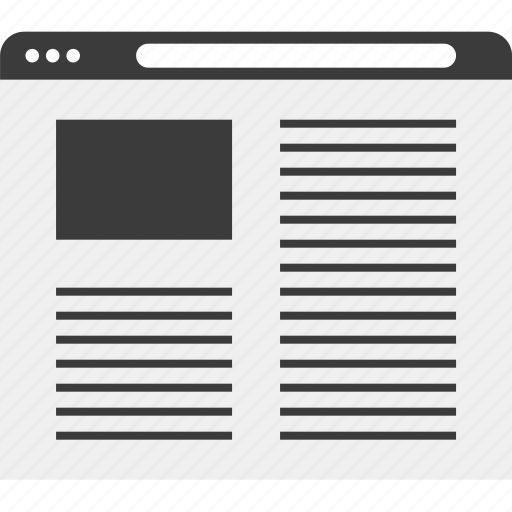 blog, online, web, website, wireframe icon