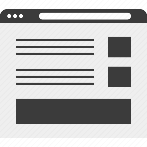 blog, browser, online, web, wireframe icon
