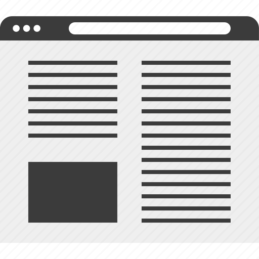 browser, columns, web, wireframe icon