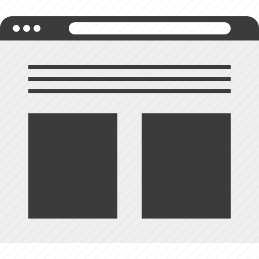 browser, web, website, wireframe icon