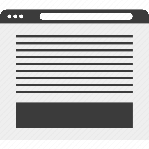 blog, description, page, web, wireframe icon