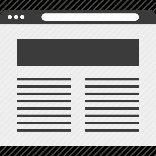 frame, layout, web, wireframe icon