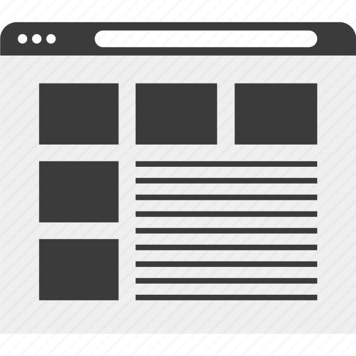 banners, frames, pictures, web, wireframe icon