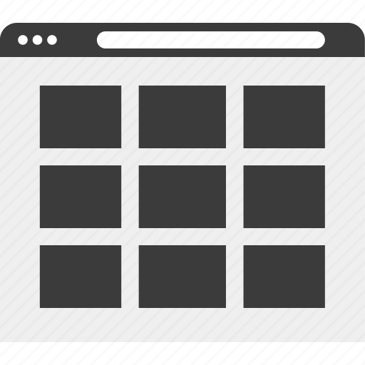 boxes, frames, web, wireframe icon