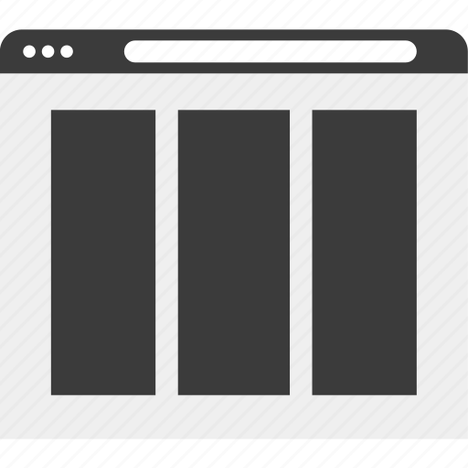 gallery, photos, web, wireframe icon