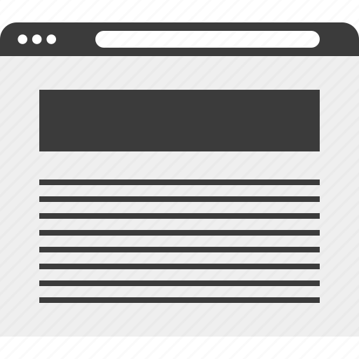header, paragraph, web, wireframe icon