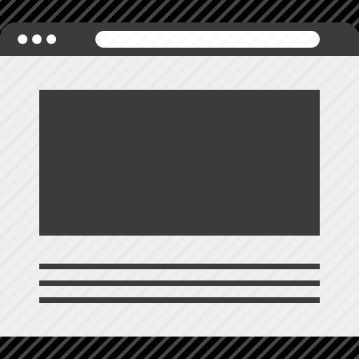 internet, layout, web, wireframe icon