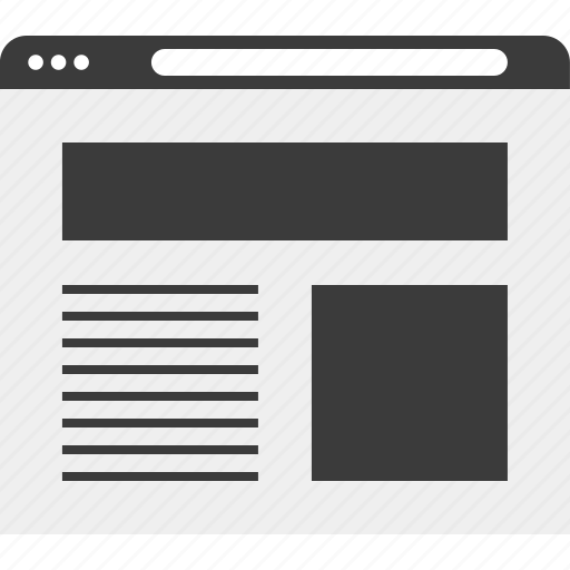 layout, online, web, wireframe icon