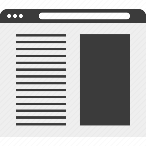 layout, page, web, wireframe icon