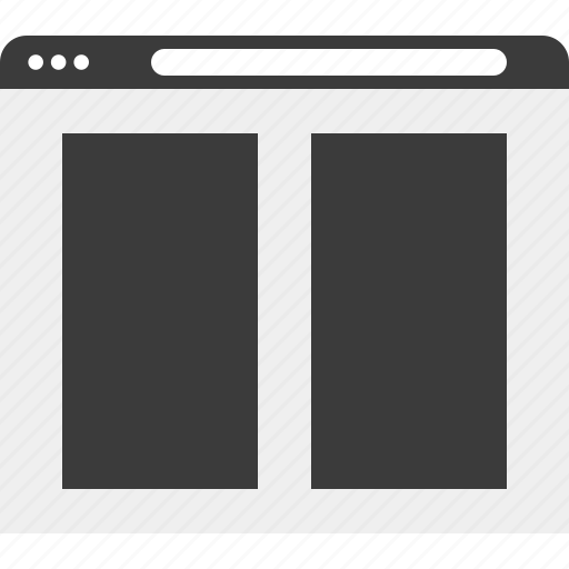 gallery, layout, photo, web, wireframe icon