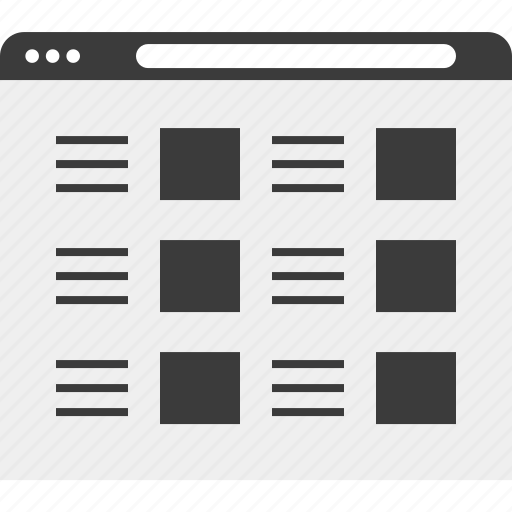 layout, list, web, website, wireframe icon