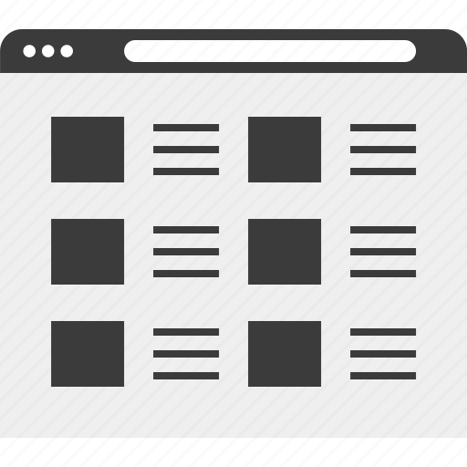 layout, list, web, wireframe icon