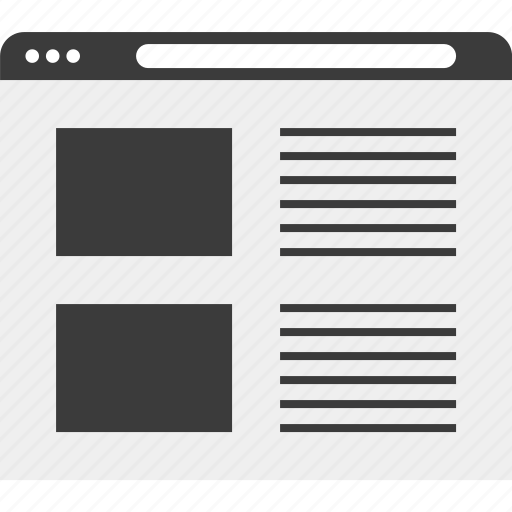 list, web, wireframe icon