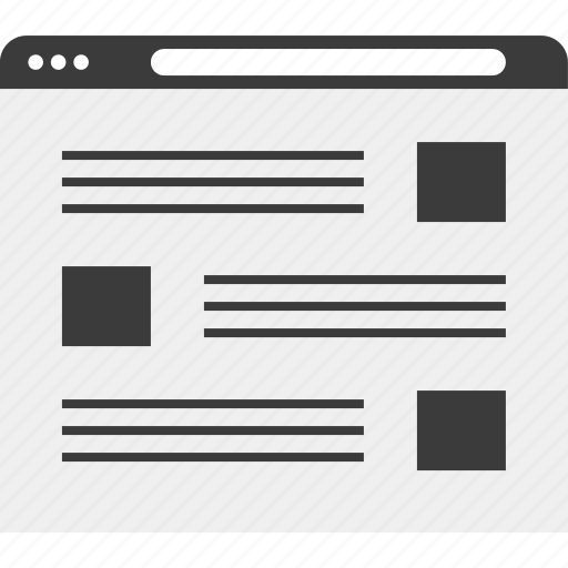 blog, list, web, wireframe icon