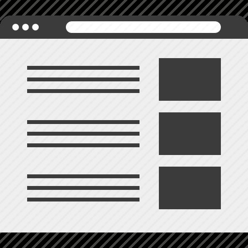 list, web, website, wireframe icon