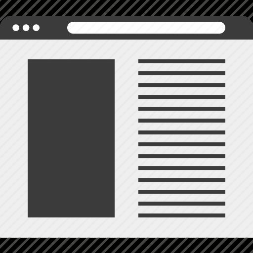 blog, online, web, wireframe icon