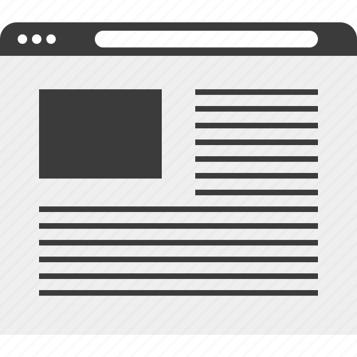 internet, layout, online, web, wireframe icon
