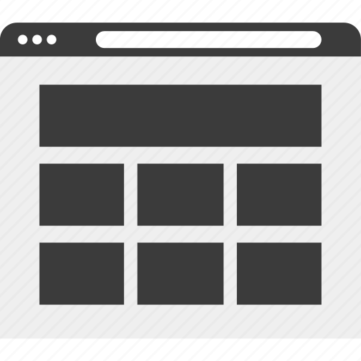 gallery, picture, web, wireframe icon