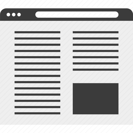 blog, page, web, website, wireframe icon