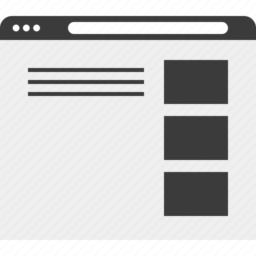 list, web, website, wireframe icon