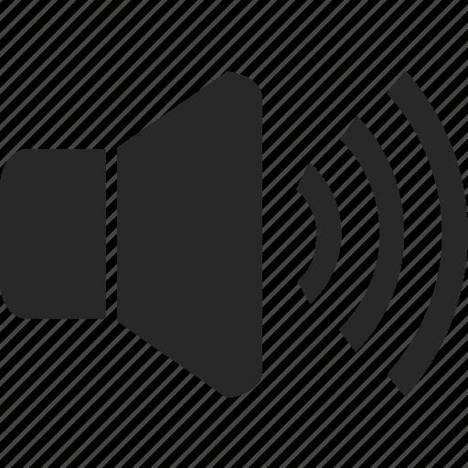 audio, loud, sound, speaker, volume icon