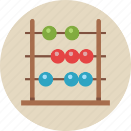 abacus, calculate, calculation, calculator, education, math, mathematics icon
