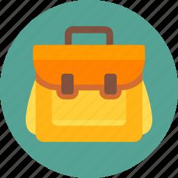 backpack, bag, camping, education, school, school bag, travel bag icon