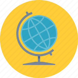 earth, education, geography, globe, learning, planet, school icon