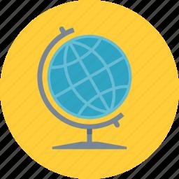 earth, education, geography, globe icon
