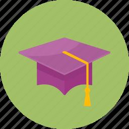 academics, education, graduate, graduation, mortar board, school, university icon