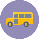 school bus, transportation, vehicle icon