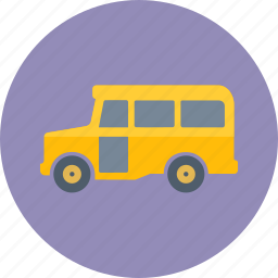 school bus, transportation, vehicle icon