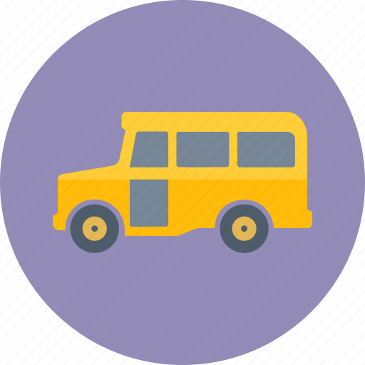 education, school, school bus, transport, transportation, trip, vehicle icon