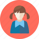 avatar, education, girl, student, user icon