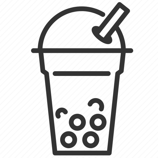 beverage, bubble, bubble tea, cold drink, drink, milk tea icon