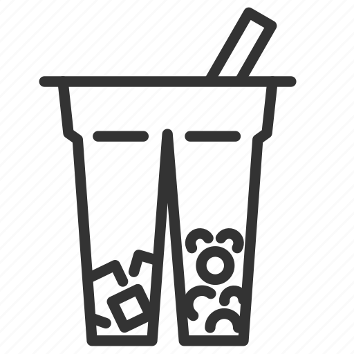 beverage, bubble, bubble tea, cup, drink, milk tea, tea icon