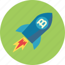 brand development, rocket, spaceship icon