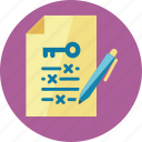 file, keyword, management, pen icon