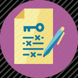 file, keyword, management, pen icon