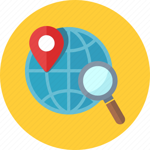 global, gps, location, search engine icon