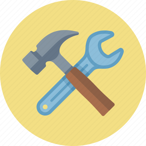 hammer, options, preferences, seo development, settings, tools, wrench icon