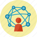 communication, connection, interaction, network icon