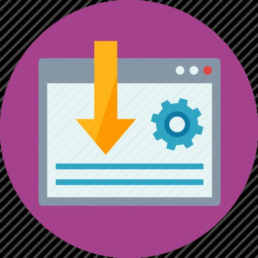 gear, internet, landing page, landing page optimization, optimization, search engine, web page, website icon