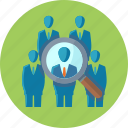 businessman, find, market research, search icon