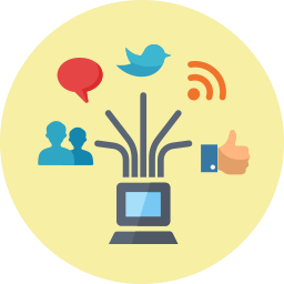 blogging, communication, connection, internet, internet marketing, laptop, management, network, news, online marketing, rss, seo, social media, web icon