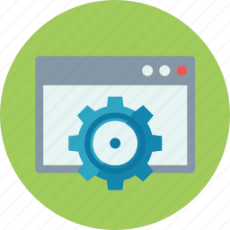 browser, gear, search engine, seo, web page icon