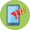 advertising, internet marketing, megaphone, mobile marketing icon
