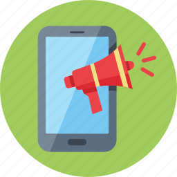 advertising, internet marketing, megaphone, mobile marketing icon